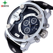 2016 luxury brand north Watches Men Sports leather 30m waterproof Quartz Pulse Male Female Watch relogio masculino