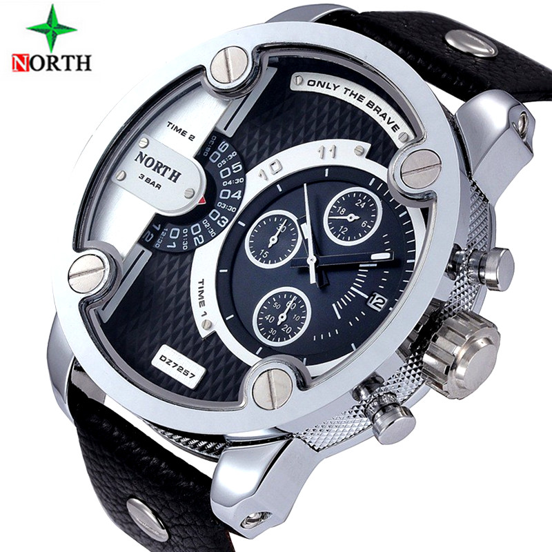 2017 luxe merk noord Horloges Mannen sport lederen 30 m waterdicht Quartz XFCS Mannelijke Vrouwelijke Horloge relogio masculino