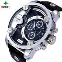 2017 luxury brand north Watches Men Sports leather 30m waterproof Quartz XFCS Male Female Watch relogio masculino