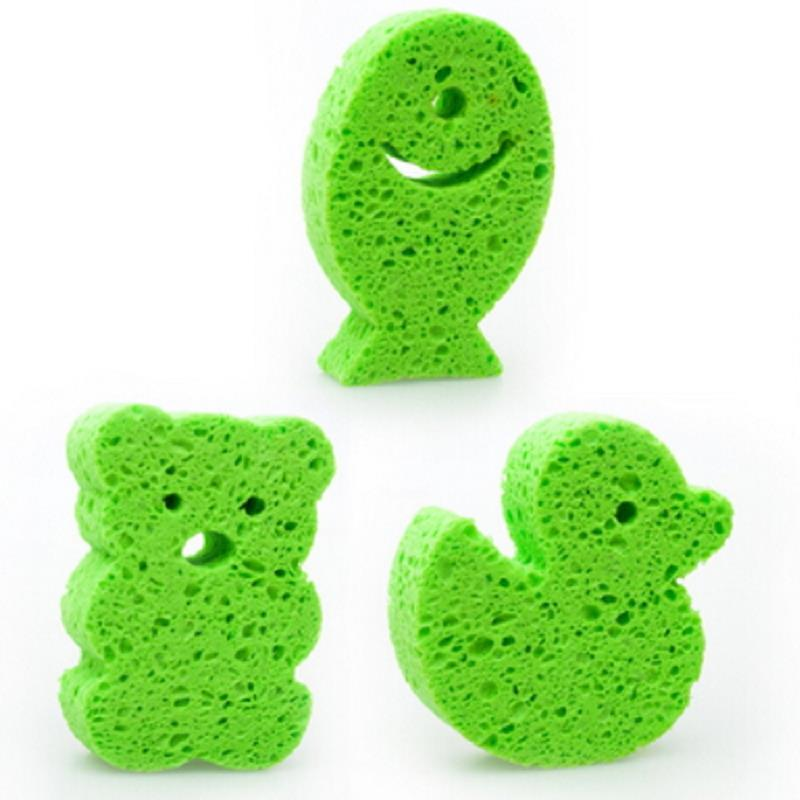 1Pcs Baby Bath Rub Children Products Baby Wash Cute Cartoon Kids Bath Bathroom Accessories Cleaner Random Colors