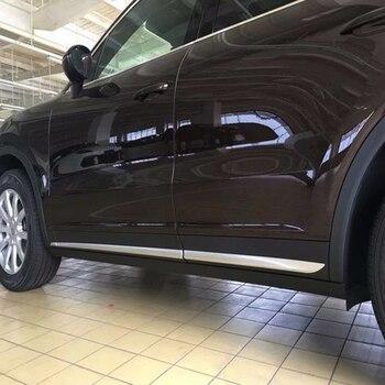 Car Styling 6PCS ABS Matte Exterior Side Door Car Body Molding Strip Cover Trim For Porsche Cayenne 3rd Gen (PO536) 2018 2019