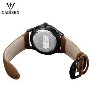 Image 4 - ساعة يد بنمط عسكري من العلامة التجارية CADISEN للرجال من الفولاذ المقاوم للصدأ ساعة يد كوارتز للأعمال الشهيرة مقاومة للماء