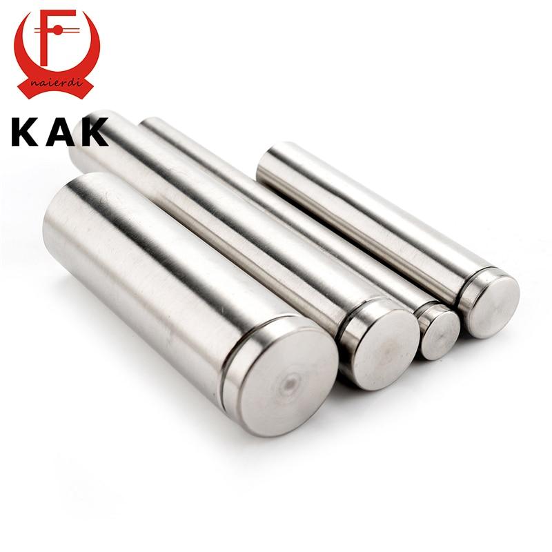 10PCS KAK Glass Fasteners 19mm Stainless Steel Acrylic Advertisement Standoffs Pin Nails Billboard Fixing Screws Hardware