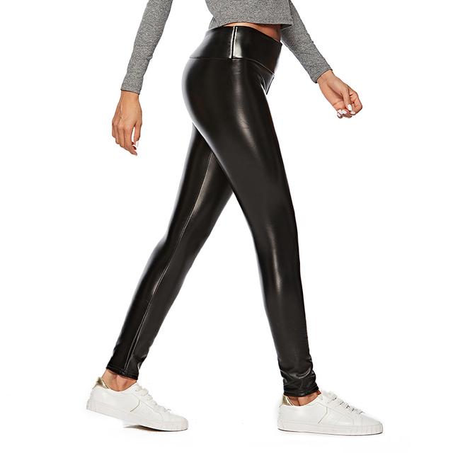 Women's Warm Faux Leather Leggings