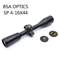 BSA 4 16X44 SP Cat Eye Rifle Scope with Side Parallax Mil dot Reticle Turrets Lock Integrated Sunshade Scopes Chasse