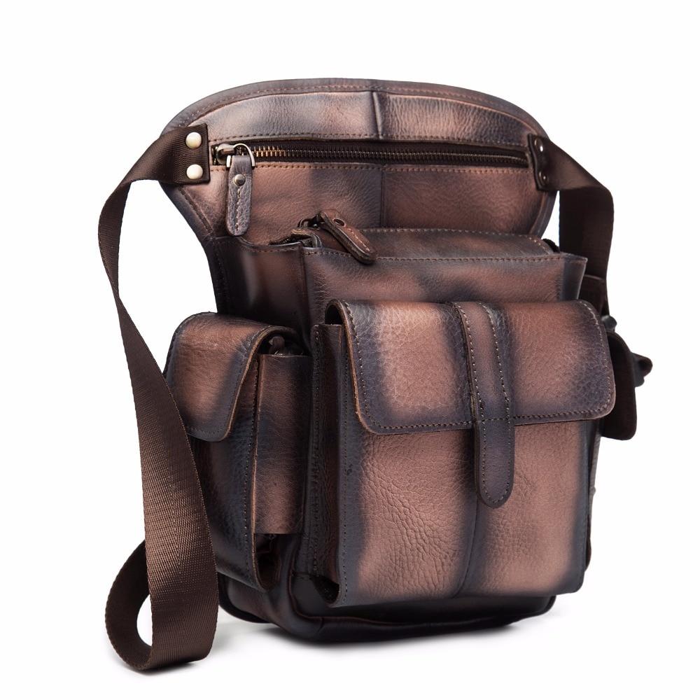 Real Leather Mænd Design Casual Messenger Crossbody Sling Bag - Bæltetasker - Foto 2