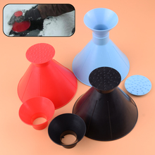 цена на CITALL Car Ice Scraper Window Windshield Cone Shaped Miracle Snow Wiper Funnel Remover Tool Black/Red/Blue