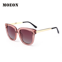 2017 High Quality New Brand Wrap Sunglasses Women Polarized TR90 Frame Summer Personality Shiny Street Wearing