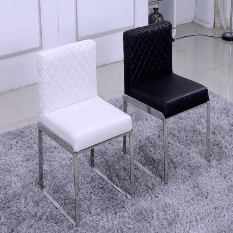 Hot Moda Couro jantando a cadeira, mobília da sala ao vivo