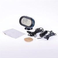 Voltímetro Termômetro Monitor de Temperatura Medidor de Auto Calibre 3 in1 Testador de Voltagem/Auto relógio mostrador Luminoso