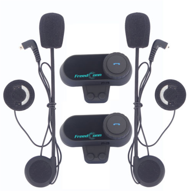 Freedconn t-comvb Motocicleta 2xBT Intercomunicador Del Casco Auricular Del Interphone Del Bluetooth 800 m comunicación FM bluetooth casco de moto