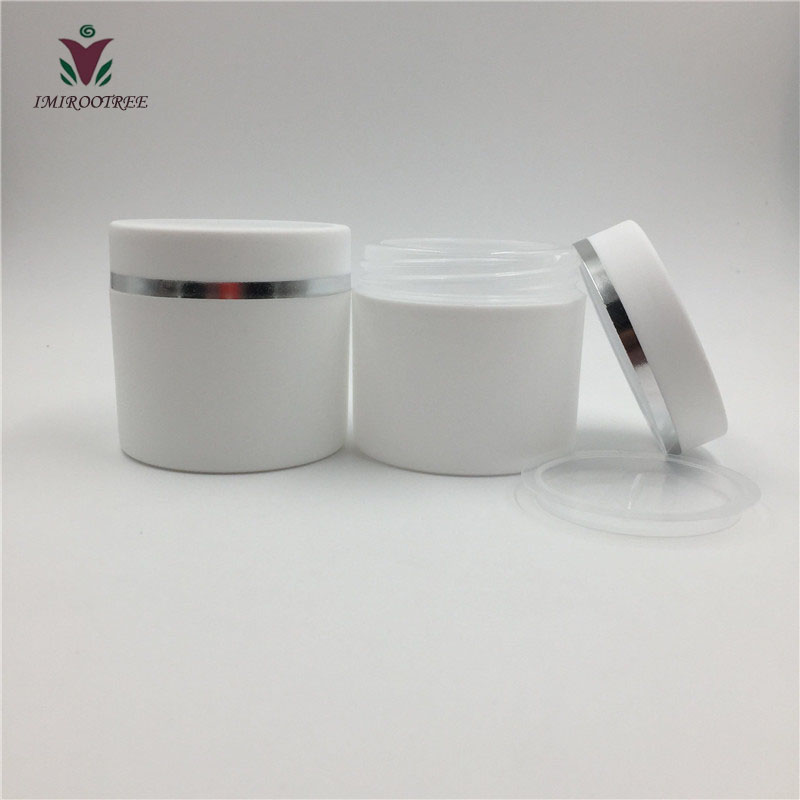 Free shipping 30 pcs lot 30ml or 50ml double wall plastic cosmetic jar for cosmetic packaging