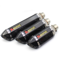Universal Inlet 51mm 36mm Motorbike Scooter left and right Akrapovic Exhaust Pipe Motorcycle Muffler Escape moto with DB Killer