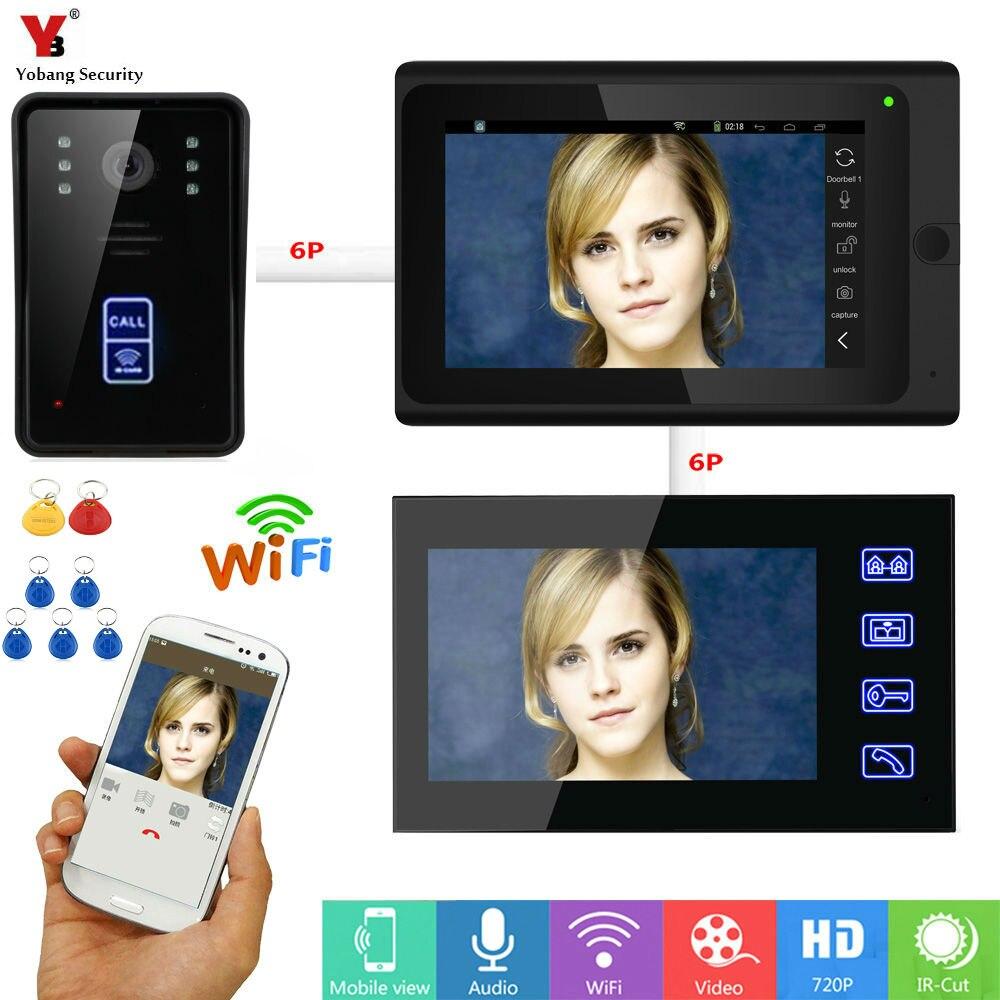 Wi-Fi Беспроводной видео Звонок домофона запись Системы 7 TFT монитор 1000TVL Камера телефон двери Системы разблокировать через монитор и телефон