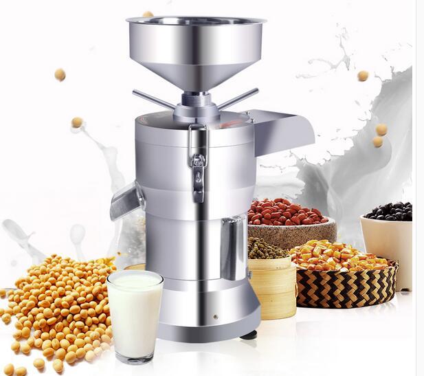 220V Automatic Slag Separating Commercial Soybean Milk Tofu Maker Machine Fiberizer Rice Paste Machine Stainless Steel