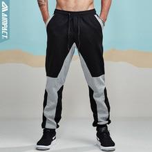 Aimpact Jogger מכנסיים לגברים כותנה טלאי מכנסי טרנינג מצויד אימונית ספורטיבי מכנסיים פעיל מקרית מכנסיים Hiphop מכנסיים AM5004