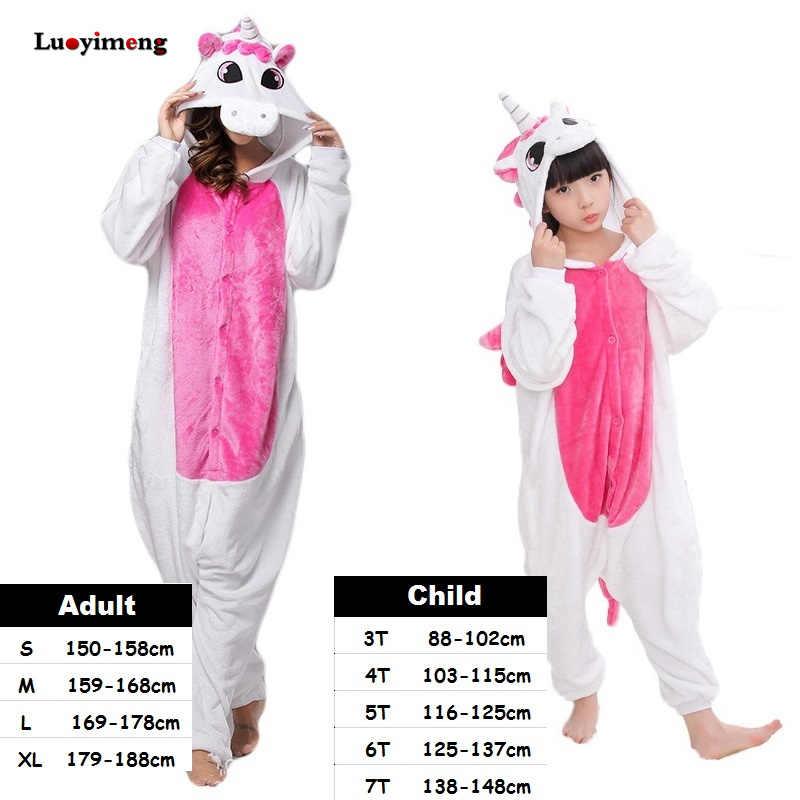 6442ba747 Detail Feedback Questions about Kigurumi Kids Women Unicorn Pajamas ...