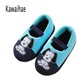 Kids Slippers Children Home Slippers Girls Warm Winter Shoes For Boys Indoor House Bedroom Baby Soft Flats 2016 Cute Animal Dog