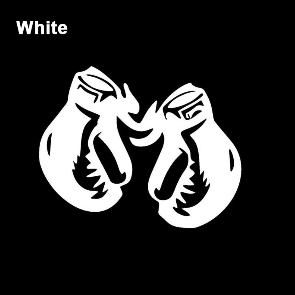 Cool Reflective Boxing Glove Car Truck Body Window Sticker Decal DIY Decoration in Car Stickers from Automobiles Motorcycles