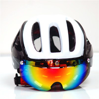 New Brand Bicycle Helmet 3 Lens Visor Glasses Integrally Mountain Road Bike Helmet Eps Cascos Ciclismo