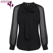 Womens black long sleeve button down shirt online shopping-the ...