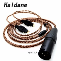 Free Shipping Haldane 8cores Pure Copper Headphone Replacement Audio Cable for HD600 HD650 HD525 HD545 HD565 HD580