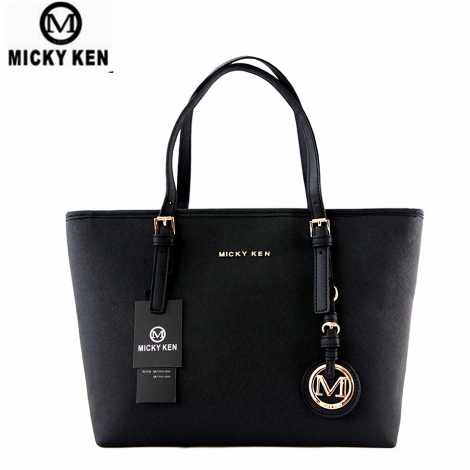 цены MICKY KEN Brand new 2017 women handbags big pu leather high quality letter female bag designer bolsos mujer sac a main totes