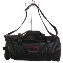 2016 New Men leather Casual Handbag Single Shoulder Cylinder Package Men's handbag Travel Bags