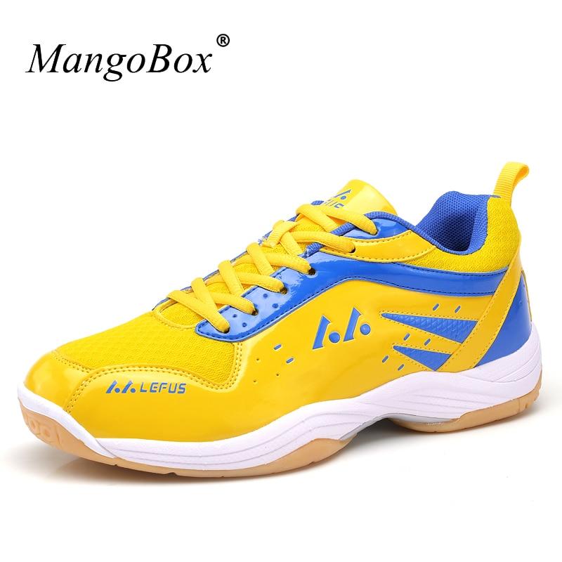 2016 Sport Shoes Men Badminton Large Size Athletic Badminton Sneakers Blue Men
