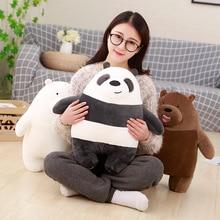 We Bare Bears Plush Cartoon Bear Stuffed Grizzly Gray White Bear Panda Plush Toy Doll Birthday Gift for Kids Children стоимость