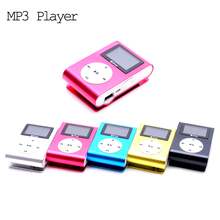 Sport MP3 Player with LCD Screen Metal Mini Clip MP3 Music Player with Earphones USB Cable Support Micro TF/SD Card Slot as Gift