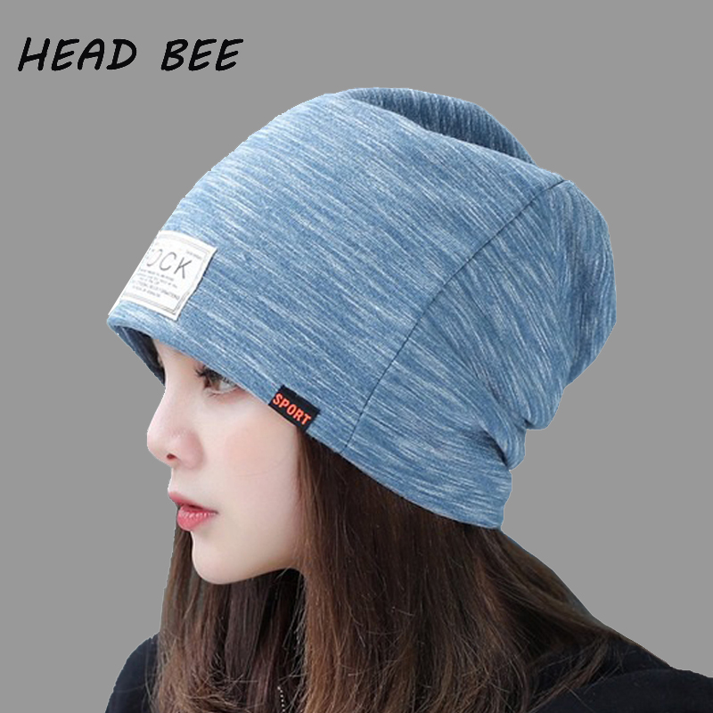 free shipping 2017 new fashion winter high quality acrylic hat knitted hat bonnet ladies casual cap for women ladies [HEAD BEE] Fashion Winter Cap Adult Cotton Beanies Hat Warm 2017 Knitted Hat Ladies Bonnet Hat for Skullies Women