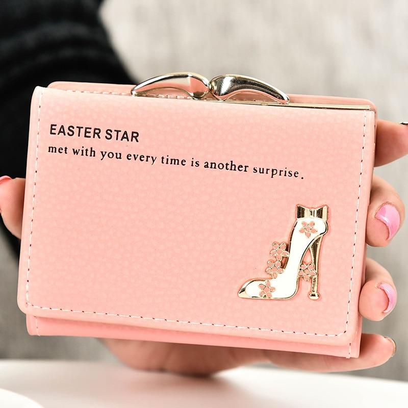 2018 New brand short women's wallet high quality guarantee designer's high-heeled shoes hasp purse for lady free shipping Women Women's Bags Women's Wallets cb5feb1b7314637725a2e7: Lemon|ROSE|black|Lavender|Pink|Sky Blue