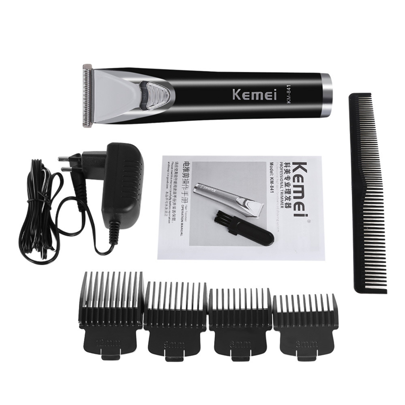 цены Kemei New Arrival Electric Barber Rechargeable Trimer Professional Hair Clippers Hair Trimmer Cutting Machine For Men