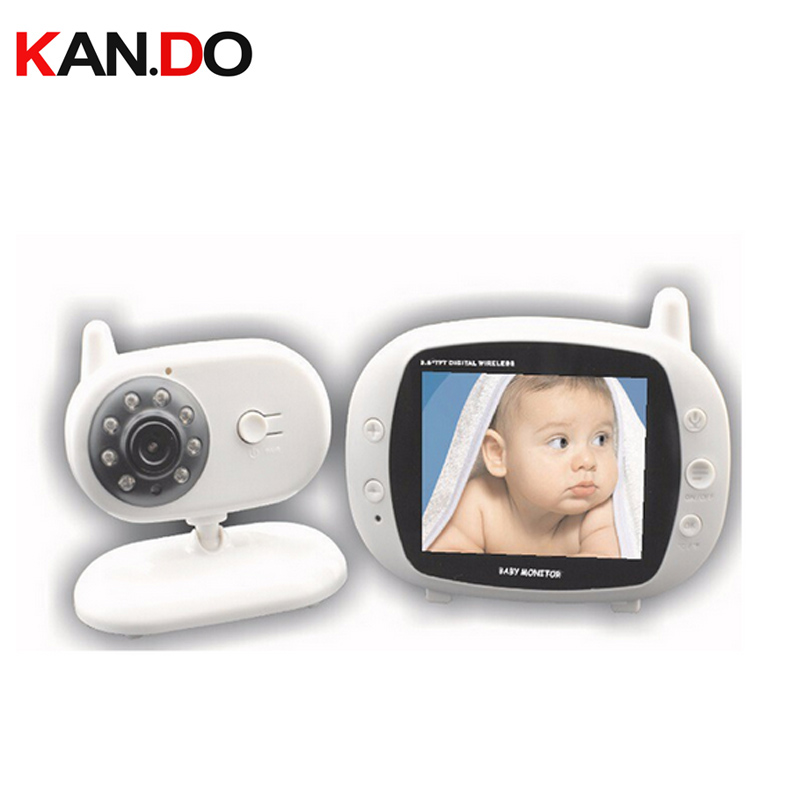 3.5Wireless Audio Video Baby Monitor Security Camera 2 Way Talk Nigh Vision IR LED Temperature Monitor w/ Lullabies CCTV camera