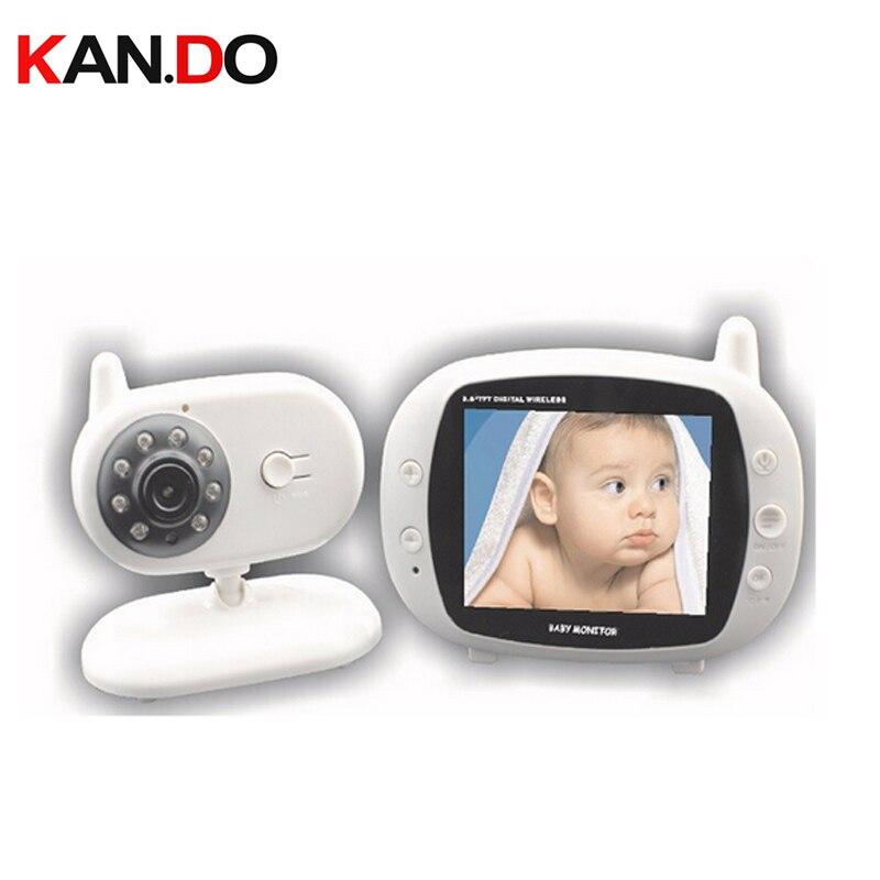 3.5Wireless Audio Video Baby Monitor Security Camera 2 Way Talk Nigh Vision IR LED Temperature Monitor w/ Lullabies CCTV camera