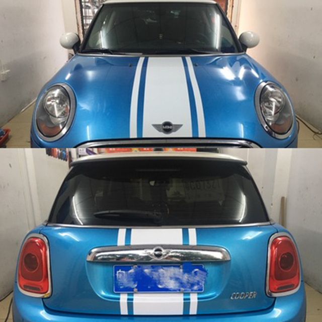 Hoodtrunk 3 Stripe Line Car Stickers And Decals Car Styling For