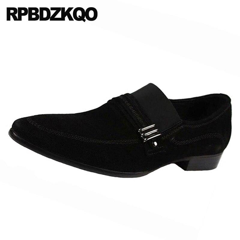 Spitz Schwarzes Schuhe Stil Große Nubuk Größe Italien Kleid Männer Mönch Formale Italienischen Britische Metall Wildleder Büro Luxus Strap Schwarz Gummi rqUHaWrAwz