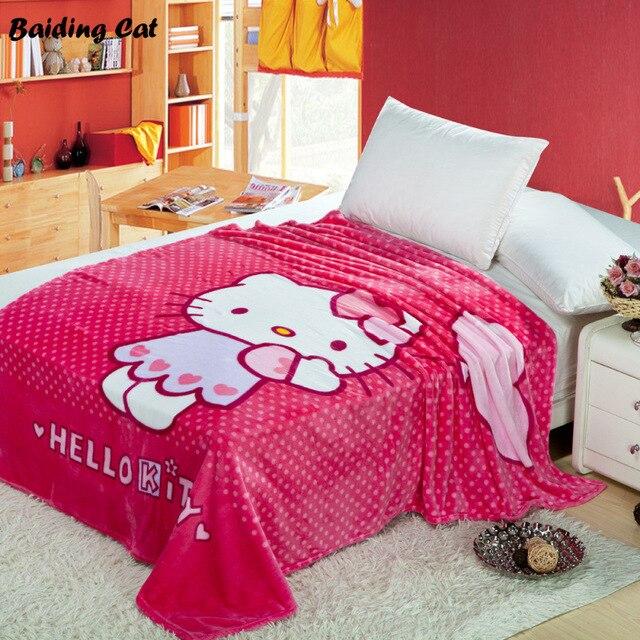Hello Kitty Blanket For AdultKids Plush Fleece Blanket Kawaii Bed New Kawaii Throw Blanket