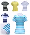 2016 Summer Fashion Women Polo Shirt Cotton Ladies Casual Short Sleeve Polos Stripe Shirts Tops Tees Slim Fit Euro Size M-XL