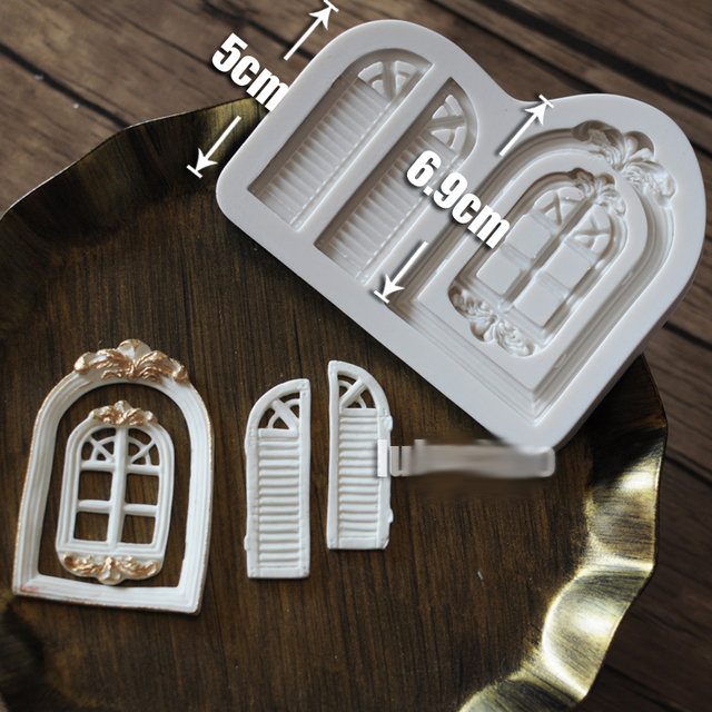window door frame silicone fandont mold Silica gel moulds window door frame Chocolate molds frames candy & window door frame silicone fandont mold Silica gel moulds window ...