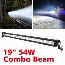 19 inch 54W C R E E LED Combo Beam Bar IP67 For Driving Vehicle Offroad Truck 4x4 4WD ATV SUV Styling 12V 24V Car Headlight стоимость