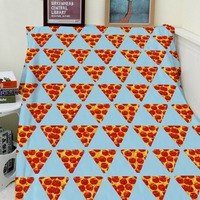 Blankets Cobertor Warmth Soft Plush Funny Small Pizza Symmetrical Pattern S Bed Throw a Blanket Thick Thin Plaid