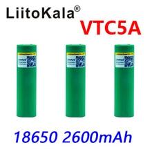 Bateria máxima de 3.6v 18650 us18650 vtc5a 2600mah, pulso de alta drenagem 40a