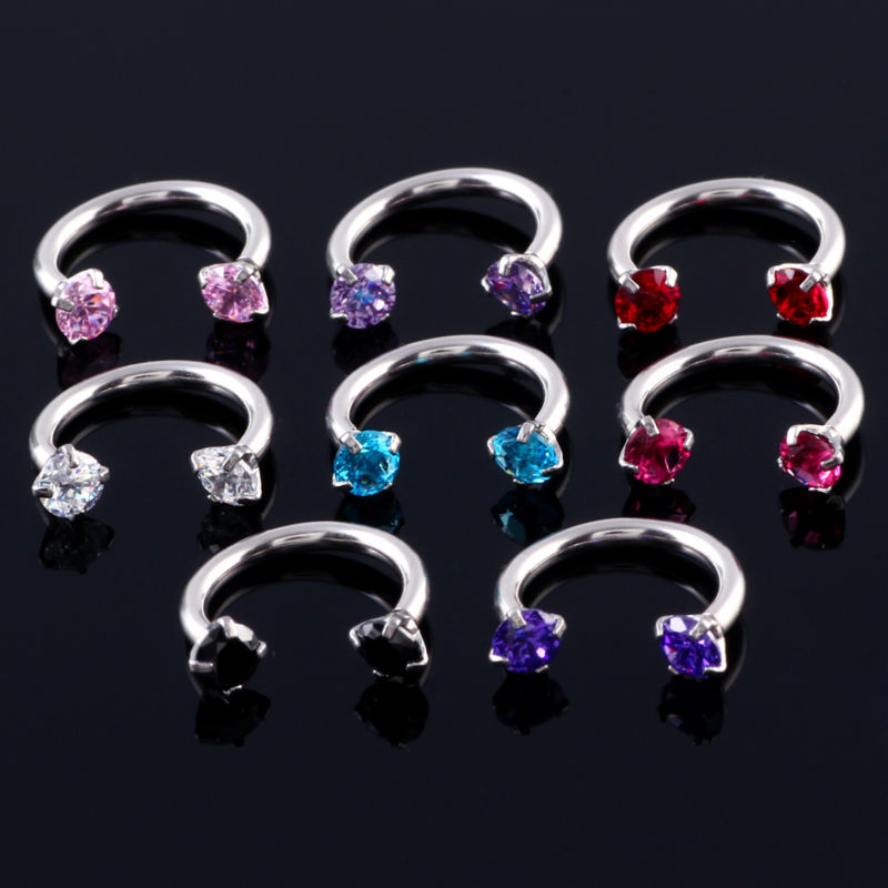 Paire Acier Inoxydable Bouchons D/'Oreille Chair Tunnel fleur de cristal Ear Gauge civière