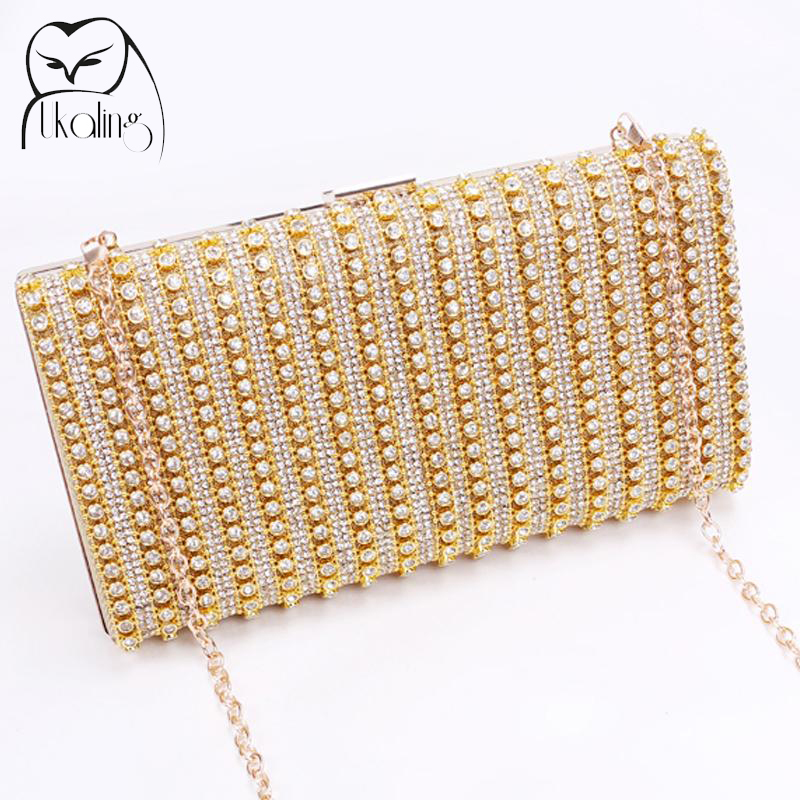 UKQLING New Fashion Women Bag Clutch Evening Bags with Chain Ladies Bag Day Clutches Purse and Handbag Sac a Main Dollar Price 2017 120cm diy metal purse chain strap handle bag accessories shoulder crossbody bag handbag replacement fashion long chains new