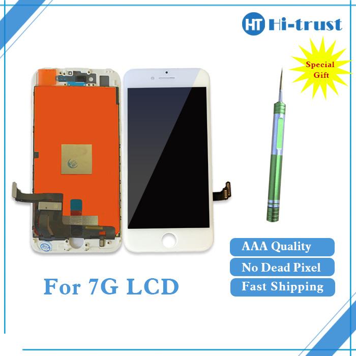 Prix pour 10 pcs pour iphone 7 7g lcd affichage digitizer assemblée pantalla replacment sortie d'usine pour apple 7 7g lcd livraison dhl