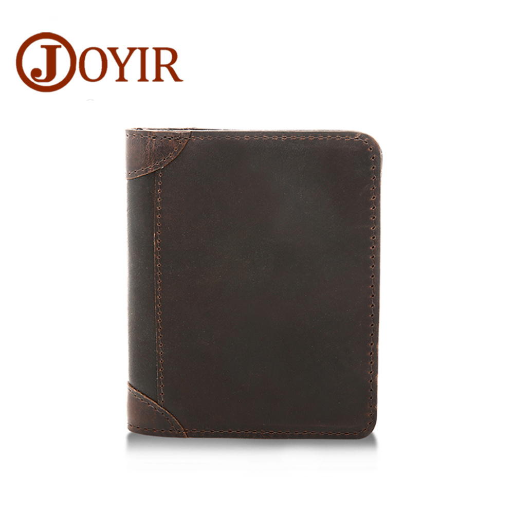JOYIR Cow Leather Hasp Men Wallets Retro Short Genuine Leather Wallets For Men Coin Purse Card Holder Male Brand Wallet contact s brand short men wallets genuine leather male purse card holder wallet fashion man hasp wallet man coin bags