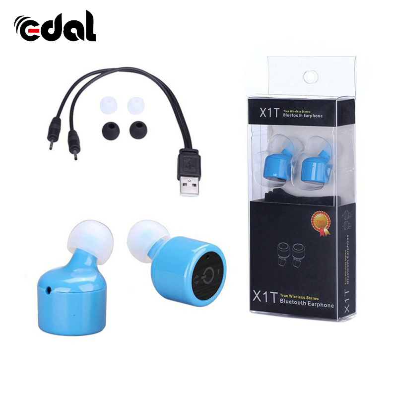 Stereo Bluetooth 4.2 Wireless In-ear Earphone Headset Handfree Micro Earpiece For Xiaomi For Mobile Phone universal led sport bluetooth wireless headset stereo earphone ear hook headset for mobile phone with charger cable
