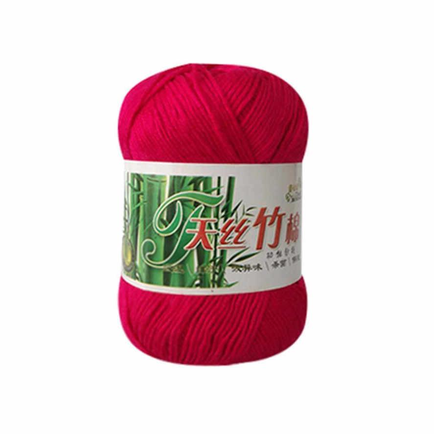 Mới 50g Kniting Tre Sợi Cotton 1 Sợi Tre Cotton Ấm Áp Mềm Mại Tự Nhiên Đan Móc Đan Len Sợi chất Lượng cao 30